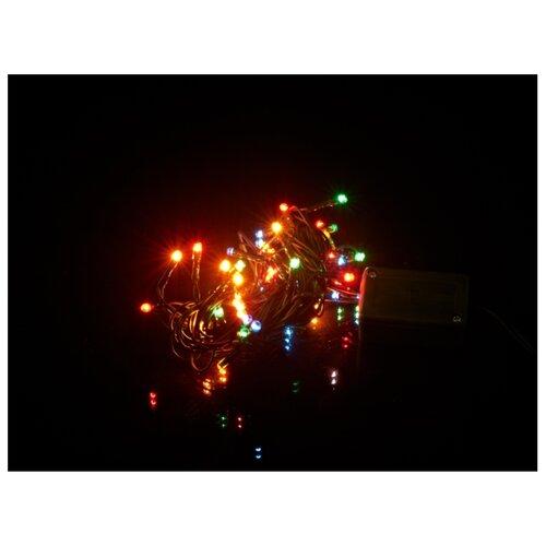 Гирлянда Monte Christmas N8630001СК 400 см, 50 ламп, разноцветный/зеленый провод украшение новогоднее monte christmas