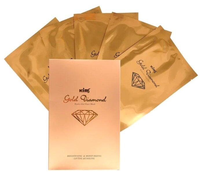 Kims Gold Diamond Hydro-Gel гидрогелевая маска с алмазной пылью и золотом