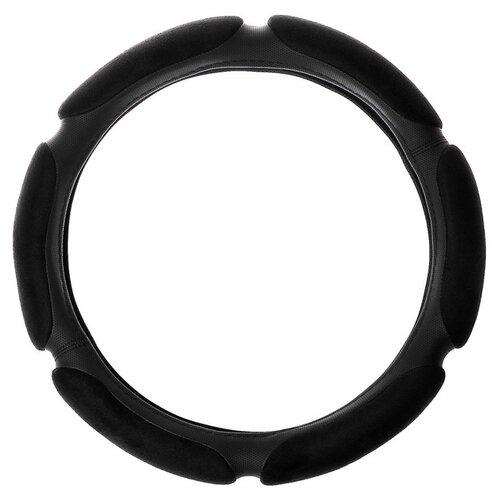 Оплетка/чехол AVS SP-426M (гладкая экокожа) черный оплетка на руль senator vermont экокожа цвет черный диаметр 40 см