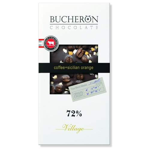 шоколад bucheron village горький с миндалем 100 г Шоколад Bucheron Village горький с зернами кофе и апельсином, 100 г