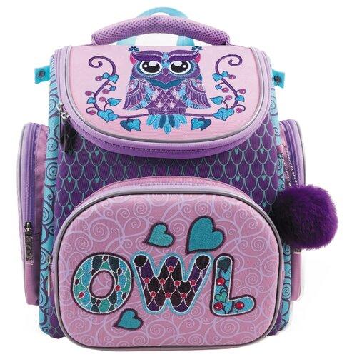 Hatber Ранец Compact Plus Owl NRk_31007, фиолетовый/розовый набор тетрадей hatber классика 12т5в2
