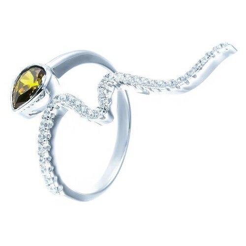 JV Кольцо с фианитами из серебра MLH0036B-KO-001-WG, размер 18 jv кольцо с фианитами из серебра dm2370r ko 001 wg размер 18