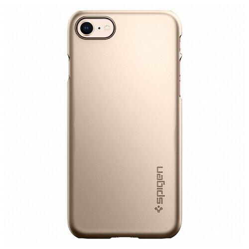 Фото - Чехол-накладка Spigen Thin Fit (054CS22) для Apple iPhone 8 шампань чехол spigen thin fit white apple watch 4 44mm