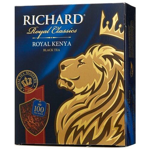 Чай черный Richard Royal Kenya в пакетиках, 100 шт. чай листовой richard royal ceylon dogs