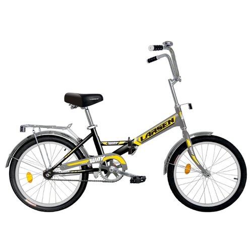 Фото - Городской велосипед Larsen Way 20 (2018) черный/желтый (требует финальной сборки) городской велосипед elops 520