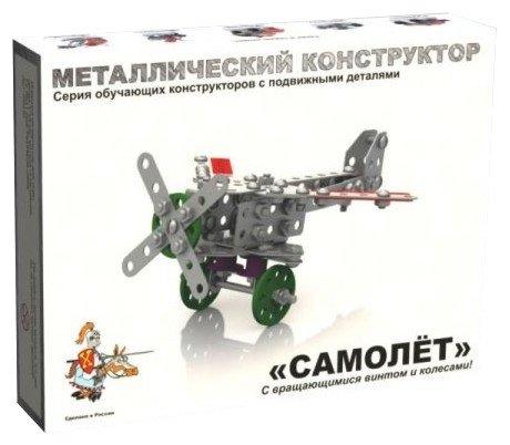 Винтовой конструктор Десятое королевство Конструктор металлический с подвижными деталями 02030 Самолет