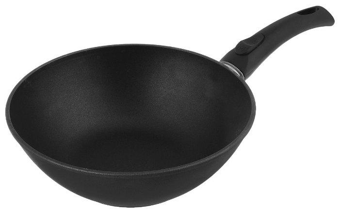 Сковорода-вок НЕВА МЕТАЛЛ ПОСУДА Титан 30 см вок (съёмная ручка)