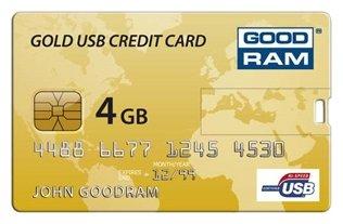 Флешка GoodRAM GOODDRIVE Gold USB Credit Card