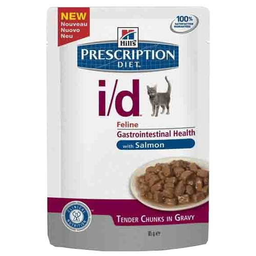 Hill's Prescription Diet I/D Feline Gastrointestinal Health in Gravy with Salmon (0.085 кг) 12 шт. Лечебные корма