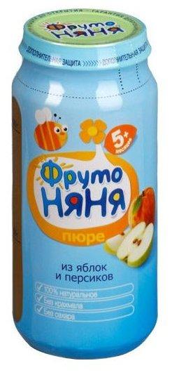 ФрутоНяня Из яблок и персиков натуральное (с 5 месяцев) 250 г, 12 шт