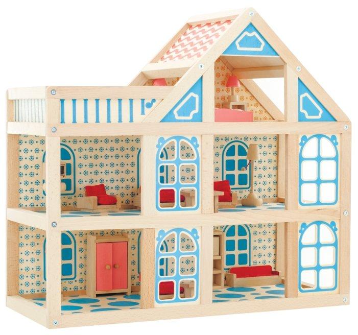 Мир деревянных игрушек кукольный домик 3 этажа Д250