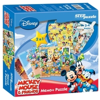 Настольная игра Step puzzle Микки Маус. Мемо+Puzzle (Disney)