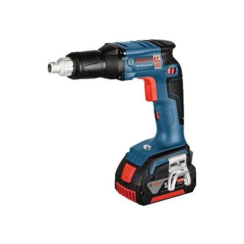 цена на Аккумуляторный шуруповерт BOSCH GSR 18 V-EC TE 5.0Ач х2 L-BOXX 25 Н·м синий/черный/красный