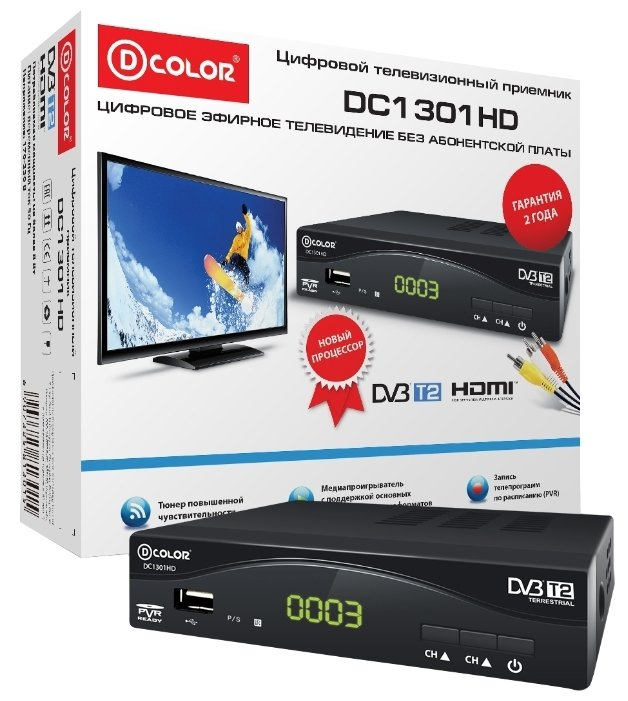 TV-тюнер D-COLOR DC1301HD