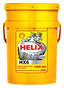 Моторное масло SHELL Helix HX6 10W-40 20 л