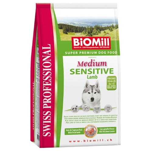 Biomill (12 кг) Swiss Professional Medium Sensitive Lamb Корма для собак
