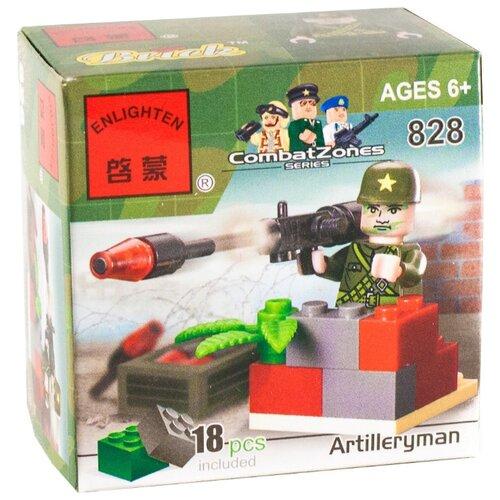 Конструктор Qman CombatZones 828 Артиллерист конструктор qman combatzones 1712 военная база