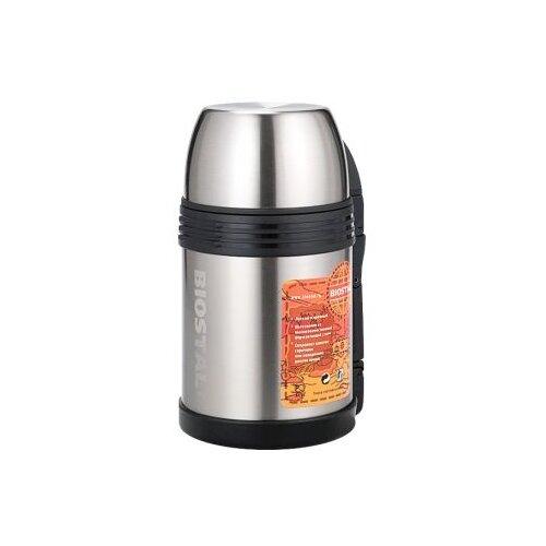 Классический термос Biostal NGP-1000P, 1 л серебристый