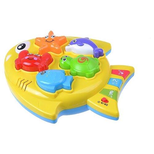 Интерактивная развивающая игрушка Play Smart Золотая рыбка 2 в 1, желтый