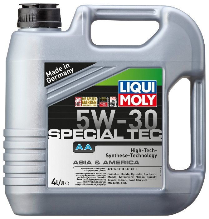 Моторное масло LIQUI MOLY Special Tec AA 5W-30 4 л