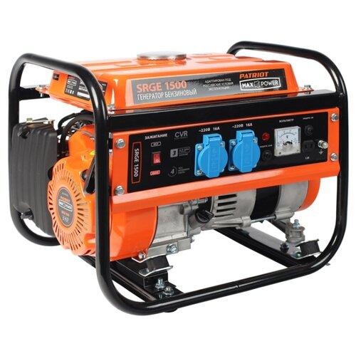 Фото - Бензиновый генератор PATRIOT Max Power SRGE 1500 (474 10 3125) (1000 Вт) генератор бензиновый patriot max power srge 6500e