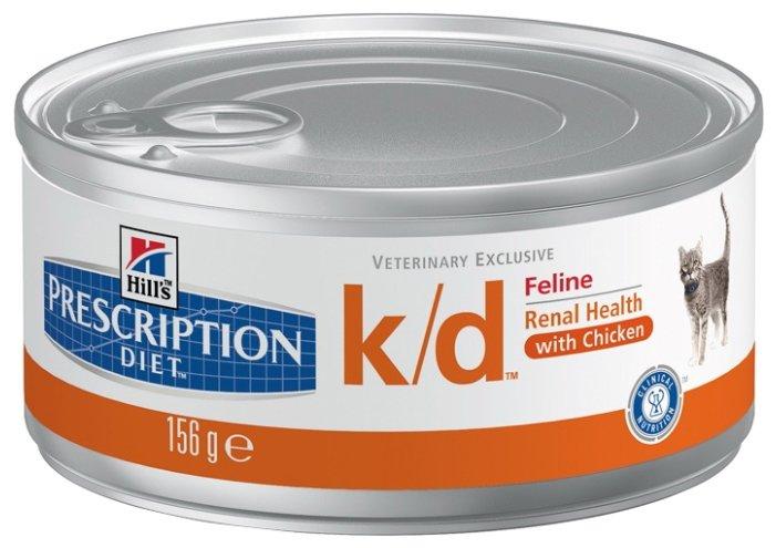 Hill's Prescription Diet K/D Feline Minced with Chicken canned (0.156 кг) 24 шт.