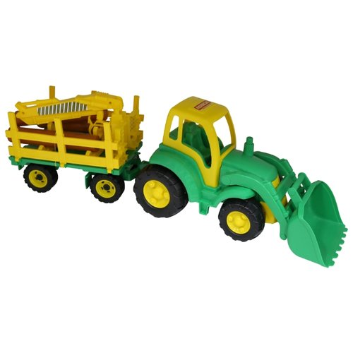 Фото - Трактор Полесье Чемпион с ковшом и прицепом (0483) 81 см трактор полесье алтай с прицепом 2 и ковшом 35363 66 см