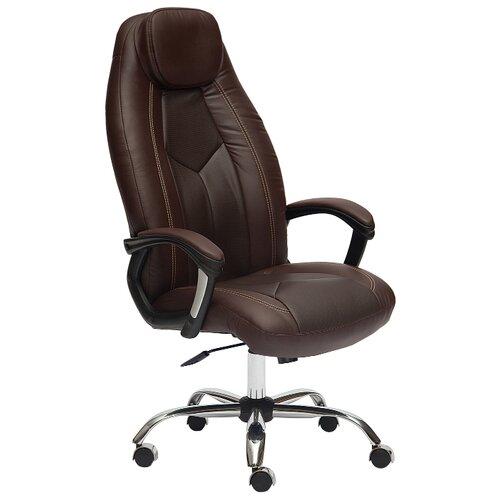 цена на Компьютерное кресло TetChair Босс, обивка: искусственная кожа, цвет: коричневый