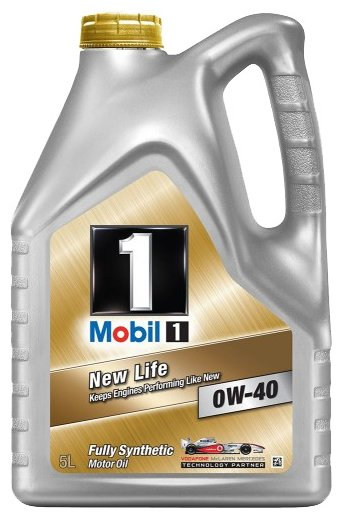 Моторное масло MOBIL 1 New Life 0W-40 5 л