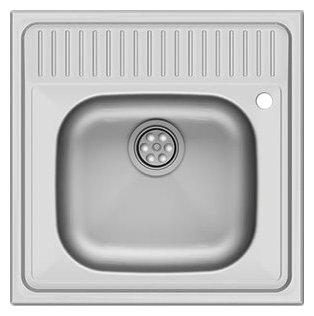 Накладная кухонная мойка Asil E LO013 / AS 24 60х60см нержавеющая сталь