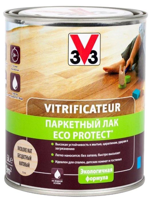 Лак V33 Паркетный ECO-Protect матовый водорастворимый — купить по выгодной цене на Яндекс.Маркете