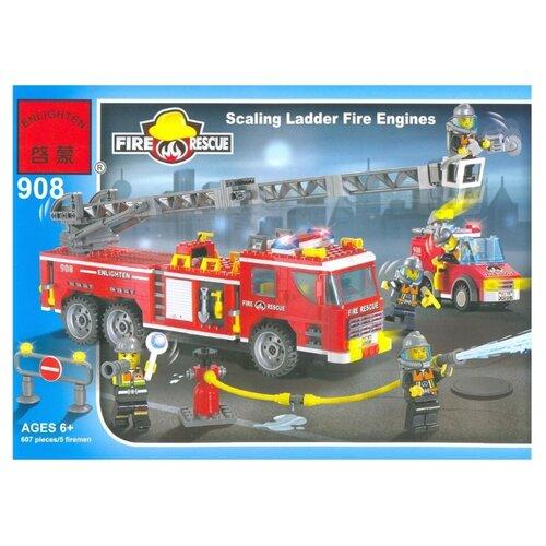 Купить Конструктор Qman Fire Rescue 908 Пожарная машина с лестницей, Конструкторы