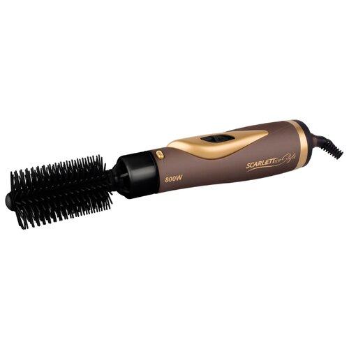 Фен-щетка Scarlett SC-HAS73I06 коричневый/золотистый машинка для стрижки scarlett sc 263 коричневый