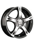 Racing Wheels H-366 6.5x15 5x114.3 ET 40 Dia 67.1 BK F/P - фото 1
