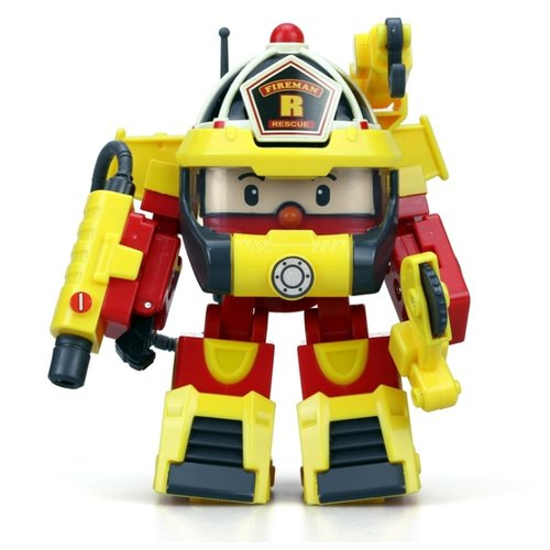 Трансформер Silverlit Robocar Poli Рой 10 см с костюмом супер-пожарного желтый/красный трансформер poli рой рой 83170