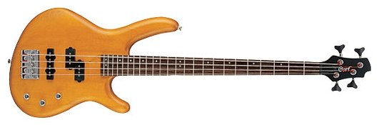 Action-Junior-OPB Action Series Бас-гитара, уменьшенная, черная, Cort
