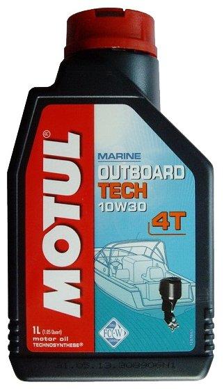Моторное масло Motul Outboard Tech 4T 10W30 1 л — купить по выгодной цене на Яндекс.Маркете
