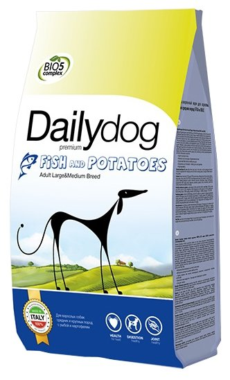 Корм для собак Dailydog Adult Medium and Large Breed Fish and Potatoes