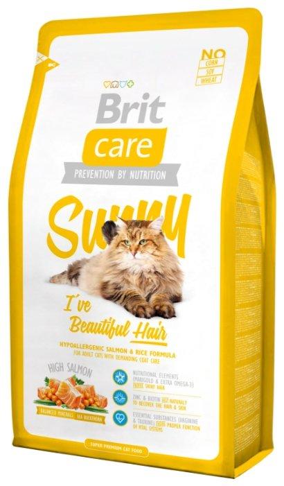 Корм для кошек Brit Care Sunny для здоровья кож... — купить по выгодной цене на Яндекс.Маркете