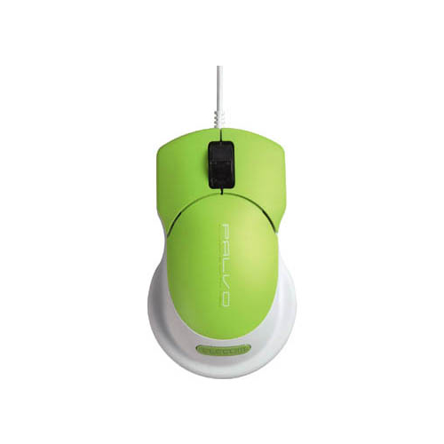 Мышь Elecom M-BPAUP2RGN Green USB+PS/2