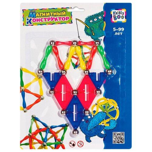 Купить Магнитный конструктор Kribly Boo Волшебное притяжение 1121 Пирамида, Конструкторы