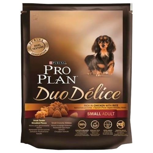 Корм для собак Purina Pro Plan (0.7 кг) Duo Delice Small Adult сanine rich in Chicken with Rice dry