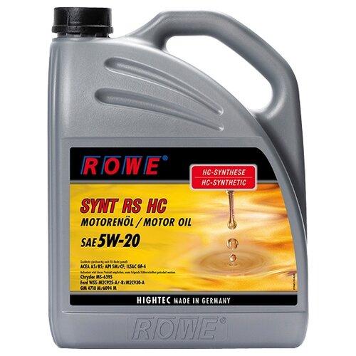 Моторное масло ROWE Hightec Synt RS HC SAE 5W-20 5 л lauren rowe hero