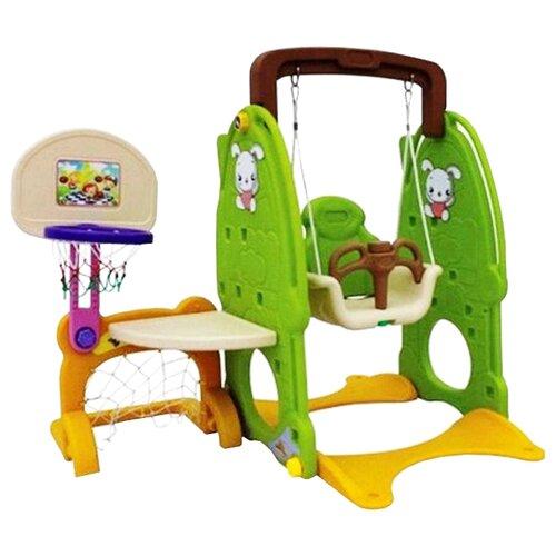 Купить Спортивно-игровой комплекс QiaoQiao Toys QQ520 Зайка зеленый/желтый, Игровые и спортивные комплексы и горки