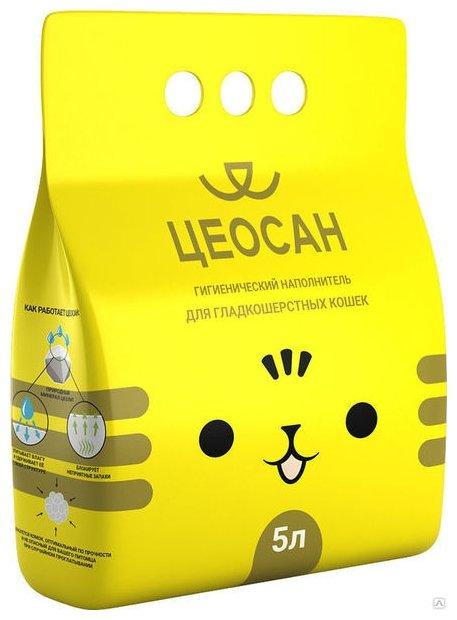 Наполнитель Цеосан Для гладкошерстных кошек (5 л)