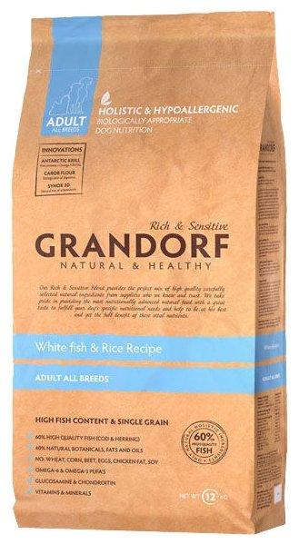 Grandorf Белая рыба с рисом Все породы (12 кг)