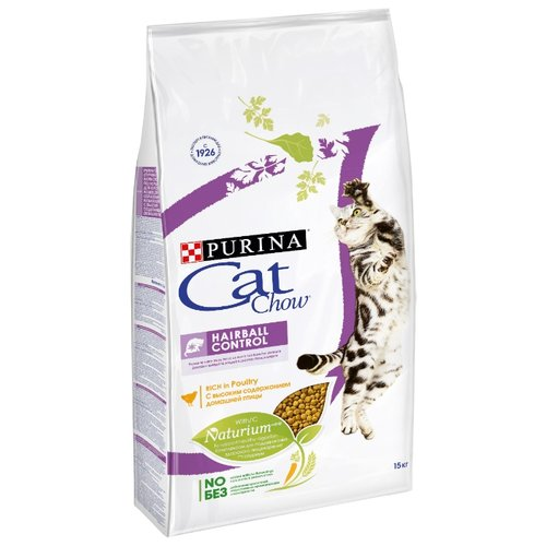 Сухой корм для кошек CAT CHOW для вывода шерсти, 15 кг
