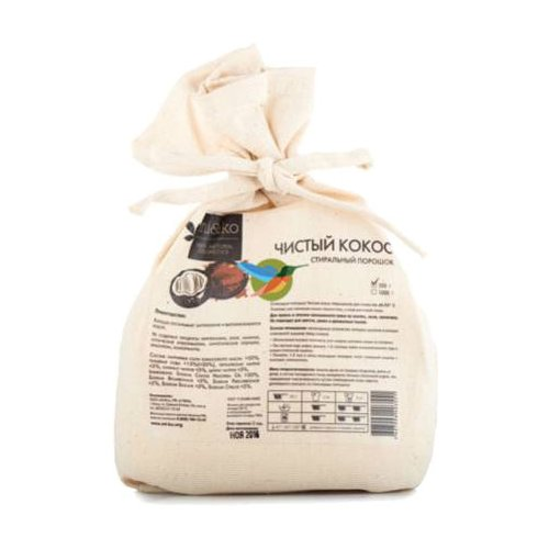 Стиральный порошок MI&KO Чистый кокос текстильный мешок 0.5 кг