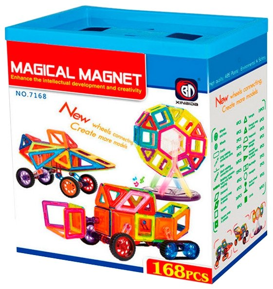 Магнитный конструктор Xinbida Magical Magnet 7168 — купить по выгодной цене на Яндекс.Маркете