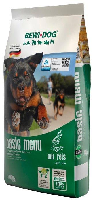 Корм для собак Bewi Dog Basic Menu with Rice для собак с нормальным уровнем активности. Хлопья для заваривания (0.8 кг)